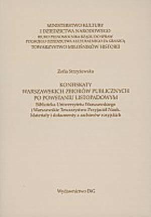 Konfiskaty warszawskich zbiorów - okładka książki