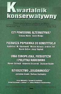Kwartalnik Konserwatywny nr 8 (wiosna) - okładka książki