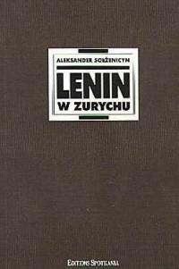 Lenin w Zurychu - okładka książki