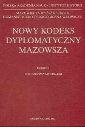 Nowy kodeks dyplomatyczny Mazowsza. - okładka książki