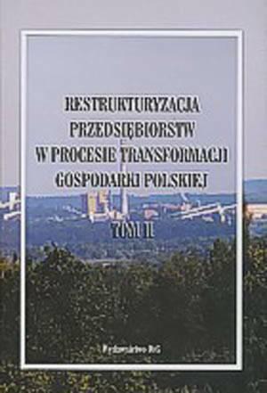 Restrukturyzacja przedsiębiorstw - okładka książki