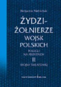Żydzi - żołnierze wojsk polskich polegli na frontach II wojny światowej - okładka książki
