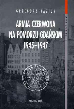 Armia Czerwona na Pomorzu Gdańskim - okładka książki