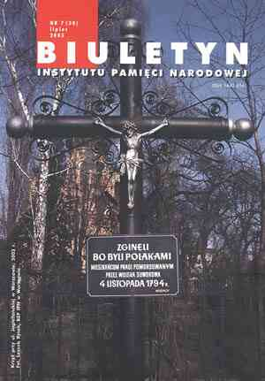 Biuletyn IPN nr 30 (7) / 2003 - okładka książki