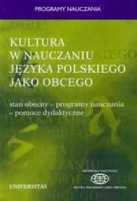 Kultura w nauczaniu języka polskiego - okładka książki