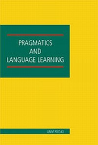 Pragmatics and language learning - okładka książki