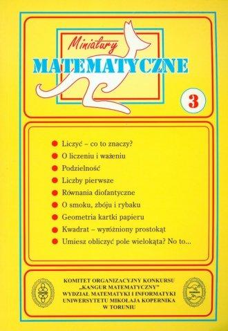 Miniatury matematyczne 3. Szkoła - okładka podręcznika