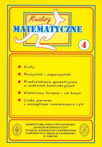 Miniatury matematyczne 4. Szkoła - okładka podręcznika