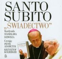 Santo subito. Świadectwo. Czytają: Piotr Adamczyk, Krzysztof Kolberger (+ CD mp3) - pudełko audiobooku