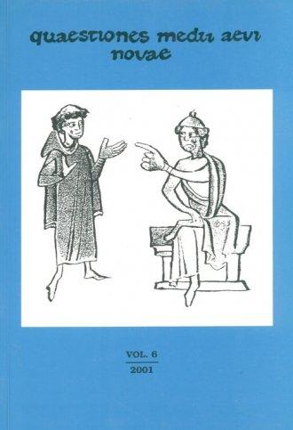 Quaestiones Medii Aevi Novae vol - okładka książki