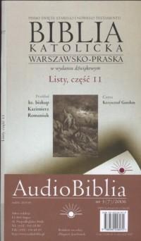 AudioBiblia. Biblia katolicka warszawsko-praska w wydaniu dźwiękowym. Listy cz. 11 (CD) - okładka książki