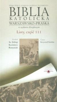 AudioBiblia. Biblia katolicka warszawsko-praska w wydaniu dźwiękowym. Listy cz. 111 (CD) - okładka książki
