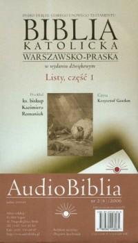 Biblia katolicka warszawsko-praska w wydaniu dźwiękowym cz. 6. Listy cz. 1 (CD) - okładka książki