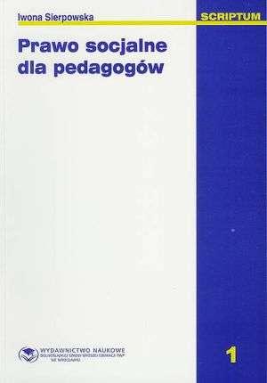 Prawo socjalne dla pedagogów - okładka książki