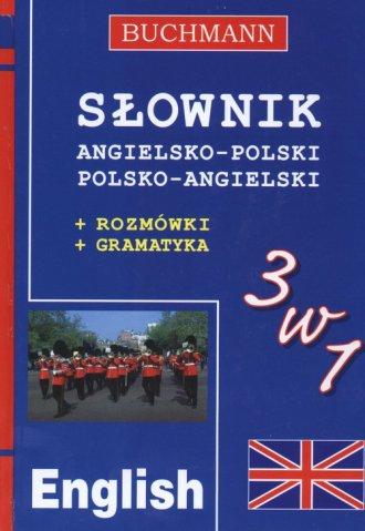 Słownik 3 w 1 angielsko-polski, - okładka książki