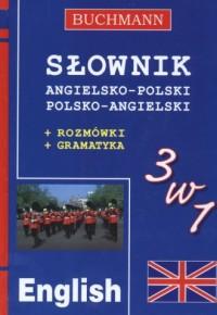 Słownik 3 w 1 angielsko-polski, polsko-angielski - okładka książki