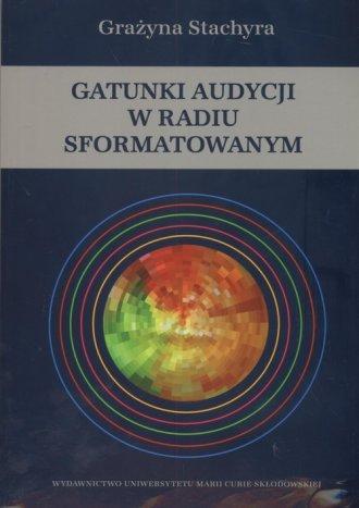 Gatunki audycji w radiu sformatowanym - okładka książki
