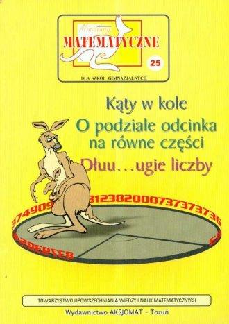 Miniatury matematyczne 25. Gimnazjum. - okładka podręcznika