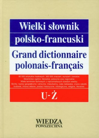 Wielki słownik polsko-francuski. - okładka podręcznika