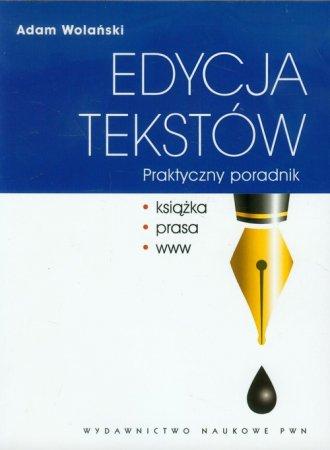 Edycja tekstów. Praktyczny poradnik - okładka książki