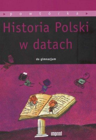 Historia Polski w datach do gimnazjum - okładka podręcznika