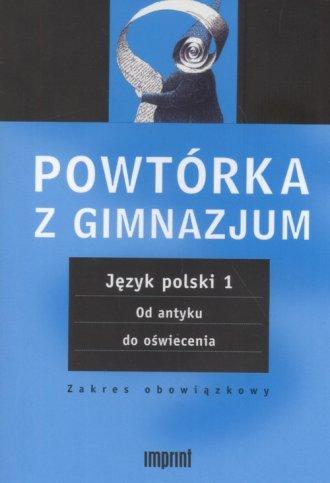 Język polski. Tom 1. Powtórka z - okładka podręcznika