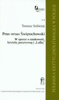 Prus versus Świętochowski. Tom 1 - okładka książki