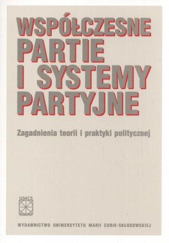 Współczesne partie i systemy partyjne. - okładka książki