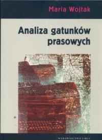 Analiza gatunków prasowych - okładka książki