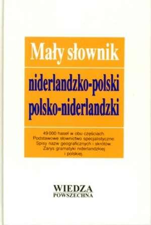 Mały słownik niderlandzko-polski, - okładka książki