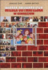 Wiedza obywatelska w gimnazjum. Podręcznik - okładka podręcznika