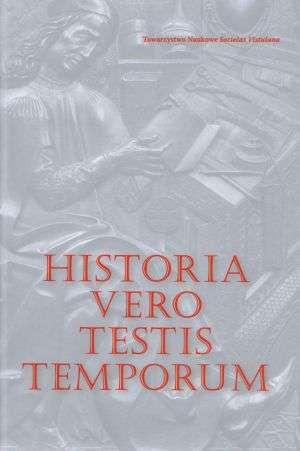 Historia vero testis temporum - okładka książki