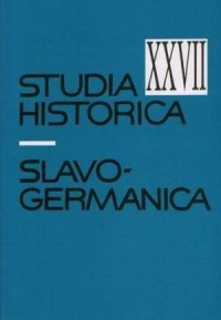 Studia historica slavo-germanica XXVII - okładka książki
