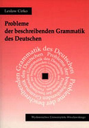 Probleme der beschreibenden Grammatik - okładka książki