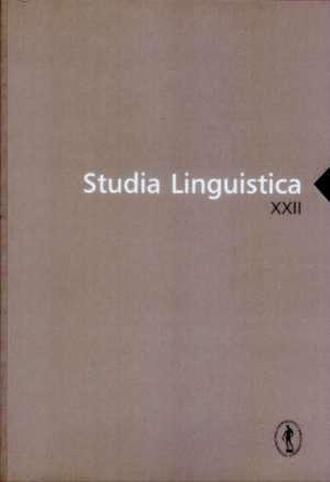 Studia Linguistica XXII - okładka książki