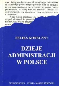 Dzieje administracji w Polsce - okładka książki
