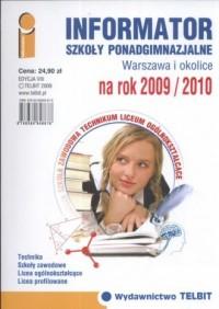 Informator. Szkoły ponadgimnazjalne. - okładka podręcznika
