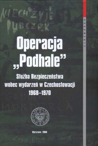 Operacja Podhale. Służba Bezpieczeństwa - okładka książki