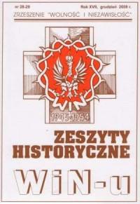 Zeszyty Historyczne Win-u nr 28-29 (grudzień 2008) - okładka książki