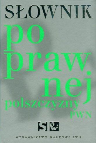 Słownik poprawnej polszczyzny PWN - okładka książki
