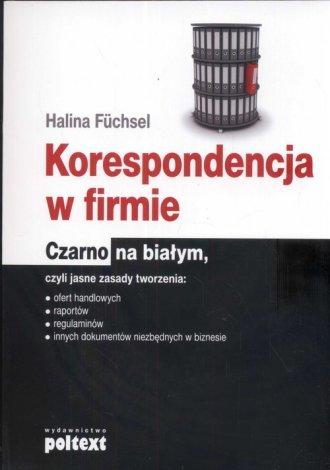 Korespondencja w firmie czarno - okładka książki