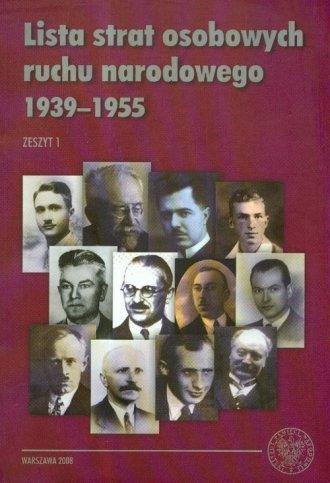Lista strat osobowych ruchu narodowego - okładka książki