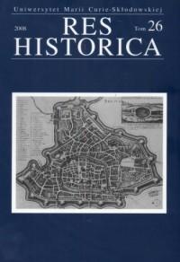 Res Historica. Tom 26 (2008) - okładka książki