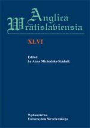 Anglica Wratislaviensia XLVI - okładka książki