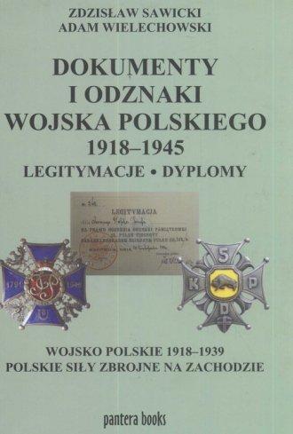 Dokumenty i odznaki Wojska Polskiego - okładka książki