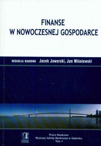 Finanse w nowoczesnej gospodarce. - okładka książki