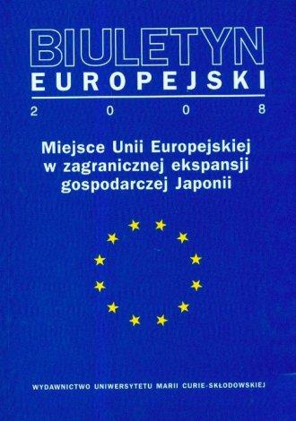 Biuletyn Europejski 2008 - okładka książki
