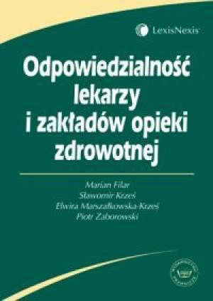Odpowiedzialność lekarzy i zakładów - okładka książki