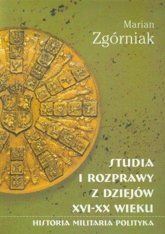 Studia i rozprawy z dziejów XVI-XX - okładka książki