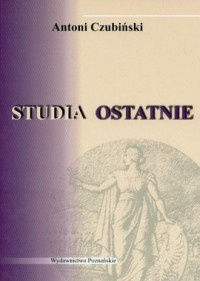 Studia ostatnie - okładka książki